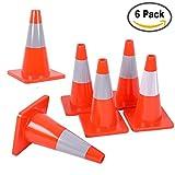road construction cones - Reliancer 6PCS 18
