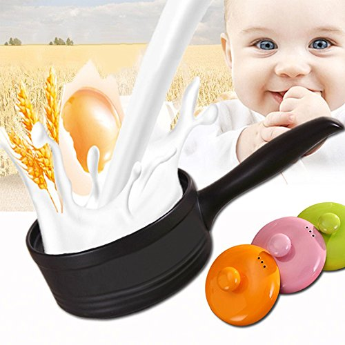 LOHOME Baby Milk Heat Pan - High Temperature Resistance Open Fires Non-stick Mini Caremic Pan bb Supplementary Food Porridge Pot (Green)