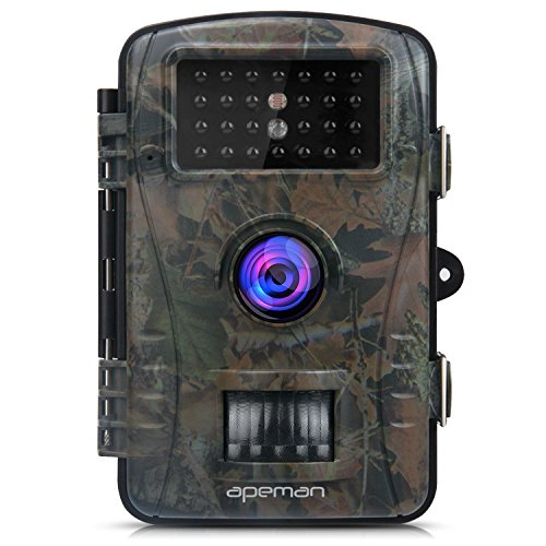 APEMAN Trail Camera Hunting Game Camera with Infrared Night Version 2.4 inch LCD Screen PIR Sensors IP54 Spray Water Protected design