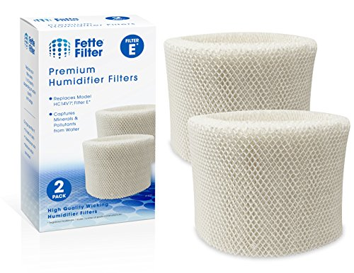 Fette Filter 2-Pack Humidifier Wicking Filters. Compatible HC-14V1, HC-14, HC-14N, Filter E by Fette Filter