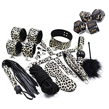 Amazon.com: 14PCS Leopard Yoga Cosplay Leather Costume + ...