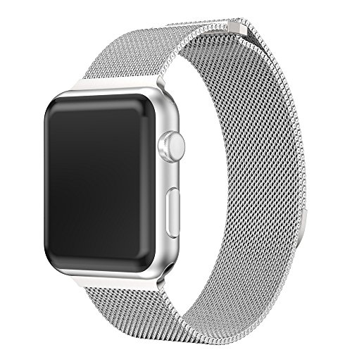 - For Apple Watch Bracelet Band 42mm, Choosebuy Milanese Stainless Steel Magnetic Mesh Replacement Bangles Wristband Women Men Strap For Apple Watch Series 3 (Silver)