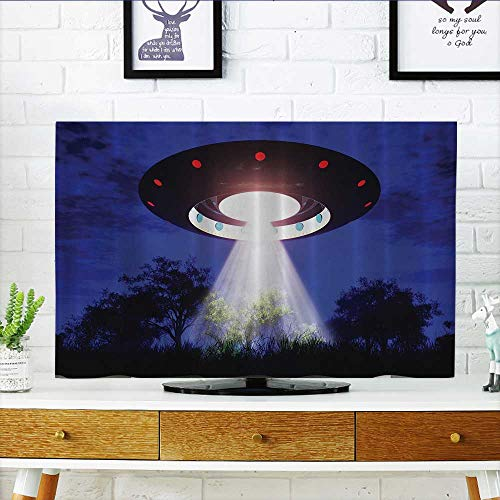 376ceaff2d L-QN TV dust Cover eJupiter Neighbors Outer Space UFO Aliens Spaceship  Extra Terrestrial Theme