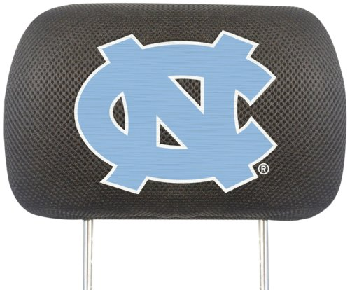 Fanmats  12609 NCAA UNC University of North Carolina - Chapel Hill Tar Heels Polyester Head Rest Cover by Fanmats