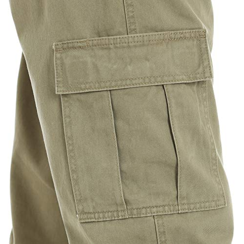 Wrangler Men's Authentics Classic Cargo Pant, British Khaki Twill, 36W x 32L by Wrangler (Image #5)