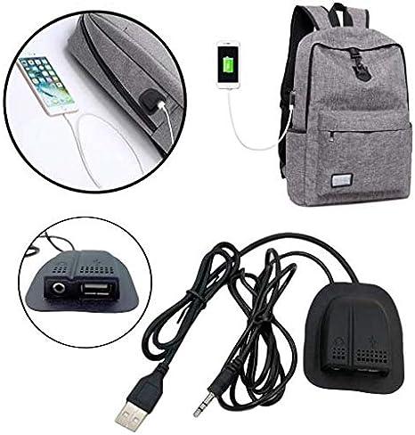 Connecteur USB et Jack auxiliaire 3,5 mm pour Sac à Dos