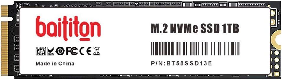 BAITITON NVME 1TB SSD M.2 2280 PCIe Express GEN3.0x4 Disco Duro Interno Unidad de Estado sólido de Alto Rendimiento: Amazon.es: Electrónica