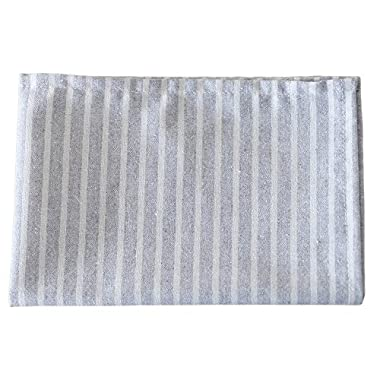 XQL Linen & Cotton Simple Striped Placemat Grey 11.8*17.7 inch