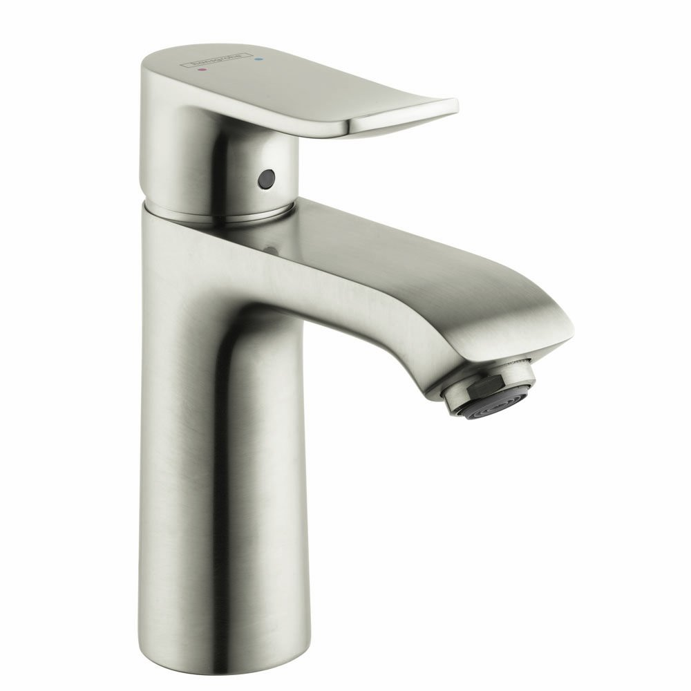 Hansgrohe 31080821 Metris E Single Hole Faucet, Brushed Nickel ...