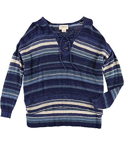 Denim & Supply Ralph Lauren Womens Knit Striped Casual Top Blue -