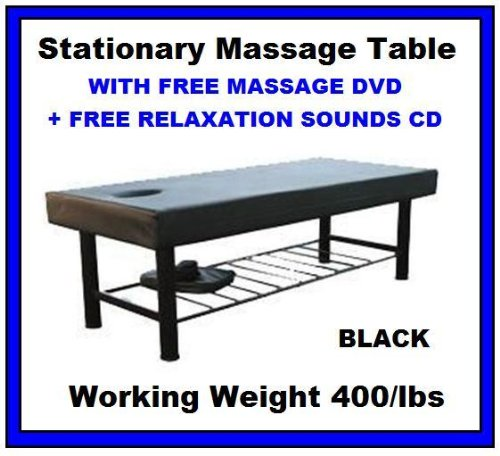 New Black Heavy Duty Easy Setup Stationary Spa Massage Table BM01 by BestMassage