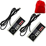 Generic Classic USB NES Game Controllers Computer Gamepad (2 Pack with Red Pouch for Storing)