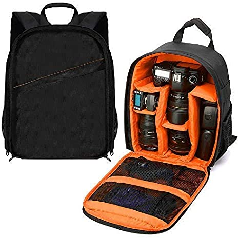 Flashes and Other Accessories Camera bag Camera Bag Waterproof Shockproof Partition Protection Backpack For SLR Lens Flash DSLR Battery And Other Accessories for Cameras,Lenses Mirrorless Camera