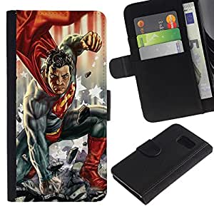 APlus Cases // Samsung Galaxy S6 SM-G920 // Superhéroe hombre los hijos de carácter tebeos // Cuero PU Delgado caso Billetera cubierta Shell Armor Funda Case Cover Wallet Credit Card