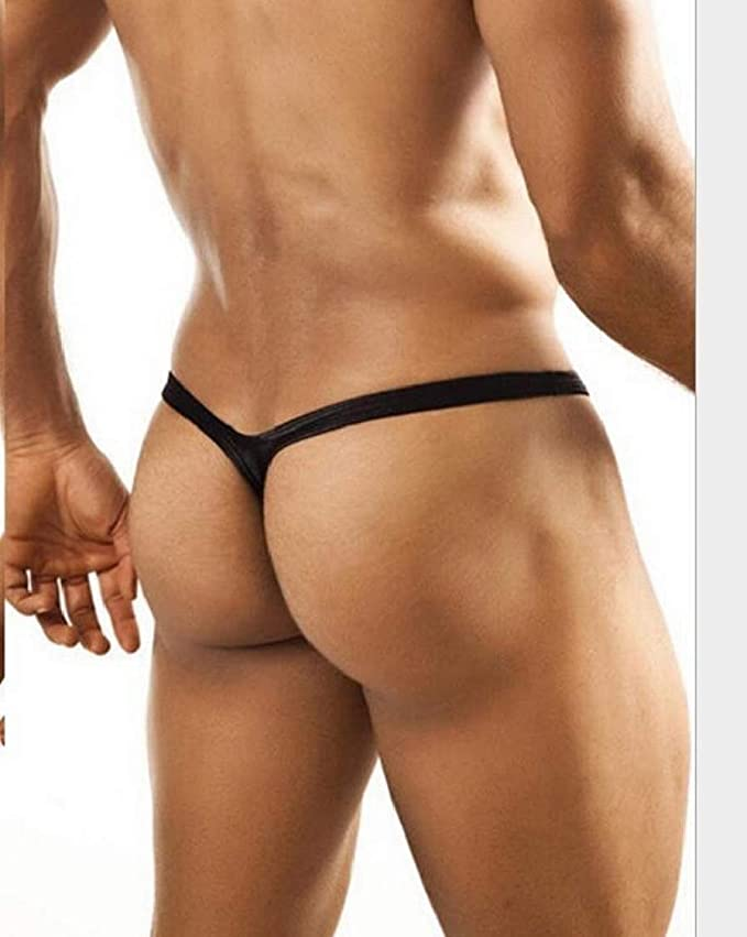 6473b353de9f XQS Men's Thong Sexy Underwear Y-Back Low Rise Bulge Pouch Silk G-String at Amazon  Men's Clothing store: