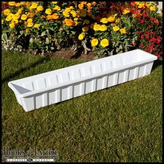 18 Poly-Pro Flower Box Planter Liner – White