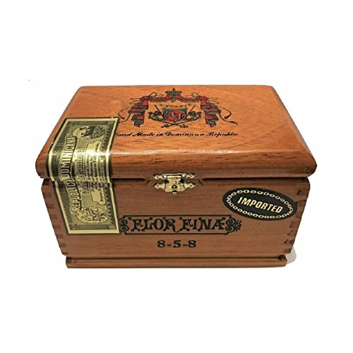 (Arturo Fuente Premium Wood Cigar Box Empty Case for Crafts Guitars (Flora Fina)