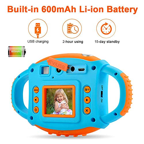 ifmeyasi WiFi Kids Camera, 1080P 8MP Digital Video Cameras for 3-8 Year Old Girls Boys Gift, Shockproof Mini Child Camcorder with 1.77 LCD Display, Mic, Flash Light(16GB Memory Card Included) by ifmeyasi (Image #4)