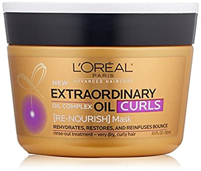 L'Oréal Paris Hair Expert Extraordinary Oil Curls Re-Nourish Mask, 8.5 fl. oz. (Packaging May Vary)
