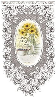 product image for Heritage Lace Live Laugh Love 12-Inch by 27-Inch Wall Hanging, White