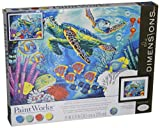 Dimensions Crafts 73-91454 Paintworks Paint by Numbers, Sea Turtles