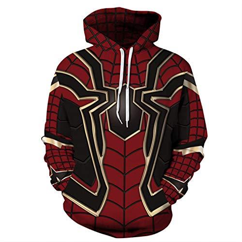 waterlan 2019 Avengers War Spiderman Hoodie Iron Spider-Man Coat Jacket Red