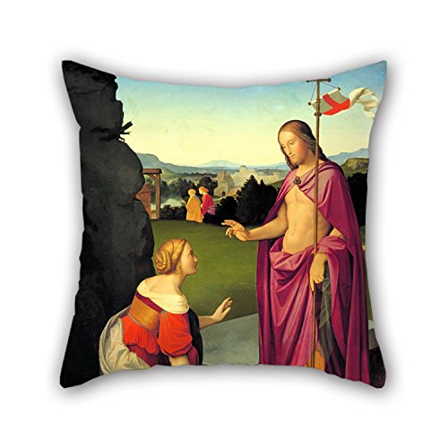 Oil Painting Friedrich Overbeck - Easter Morning Pillowcover 18 X 18 Inches / 45 By 45 Cm Best Choice For Car Lounge Bf Home Office Dance Room Relatives With Two Sides