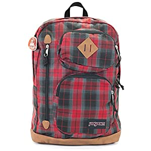 Jansport Houston Backpack (Red Tape Plaid)