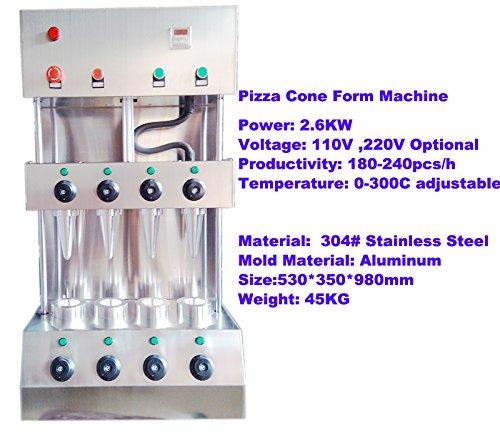 AMARELEC comercial automático eléctrico Pizza Pizza de cono ...