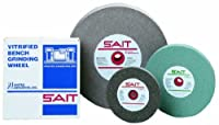 United Abrasives-SAIT 28004 6 by 1/2 by 1 A60X Bench Grinding Wheel Vitrified, 1-Pack