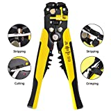 Multi-Tool Wire Stripper, 8 inch Self-adjusting Cable Cutter Crimper Automatic Wire Stripping Tool Cutting Pliers Tool for Industry 10-24 AWG (0.2-6m㎡)
