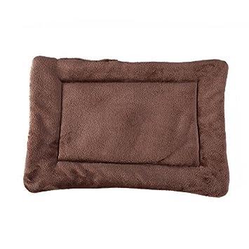 Cama de mascota caliente y suave Alfombra de cojín para perros (L:70*55cm, Marrón): Amazon.es: Productos para mascotas