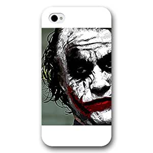 A-Lee - Customized Personalized White Frosted iPhone 4/4s Case, The Joker, Batman Logo, Batman iPhone 4s case, The Joker, Batman Logo, Batman iPhone 4 case by ruishername