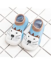 Adorable Animals - Non-Slip Baby Slippers,Baby First-Walking Shoes 1-4 Years Kid Shoes Trainers Toddler, Baby Tiny Feet Shoes, TPR Material Slip-on Sneakers Outdoor