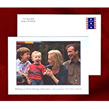 Senator Kirsten Gillibrand & Family Holiday Card, with Addressed and Opened Envelope, and Opened Envelope. Undated, Circa 2010. Political & Congressional Ephemera