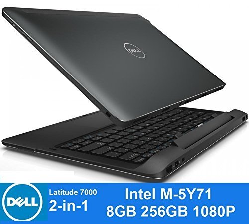 Dell Latitude e7350 13.3-inch 13 7000 2-in-1 Touchscreen Laptop, Core M-5Y71 1.2GHz 256GB SSD 8GB W8.1 (Certified Refurbished)
