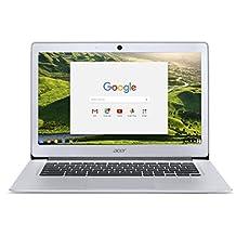 Acer Chromebook 14, Aluminum, 14-inch Full HD, Intel Celeron Quad-Core N3160, 4GB LPDDR3, 32GB, Chrome, CB3-431-C5FM(US Version, Imported)