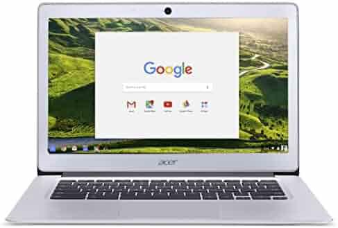 Acer Chromebook 14, Aluminum, 14-inch Full HD, Intel Celeron Quad-Core N3160, 4GB LPDDR3, 32GB, Chrome, CB3-431-C5FM