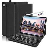 iPad Pro 11 Keyboard Case 2018, COO iPad Keyboard Case for iPad Pro 11 inch - Detachable Wireless Keyboard with Ultra Slim PU Leather Case, Support Apple Pencil 2nd Gen Charging, Dark Grey