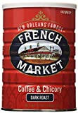 French Market Coffee & Chicory, City Roast(Dark Roast), 12-Ounce Cans (Pack of 3)