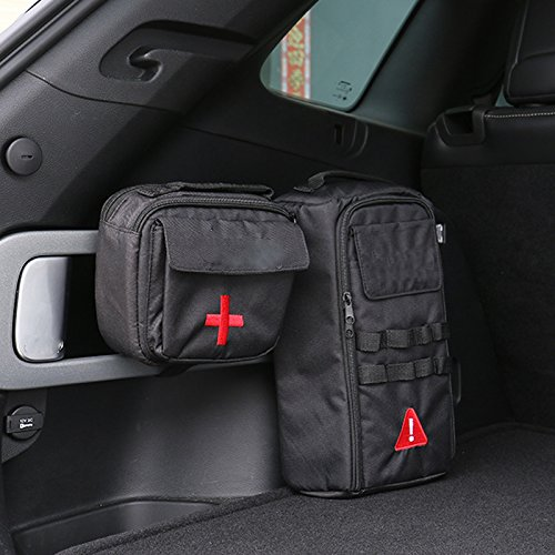 Car First-aid Kit & Tool Kit Canvas Bag 2pcs For Jeep Cherokee 2014-2016