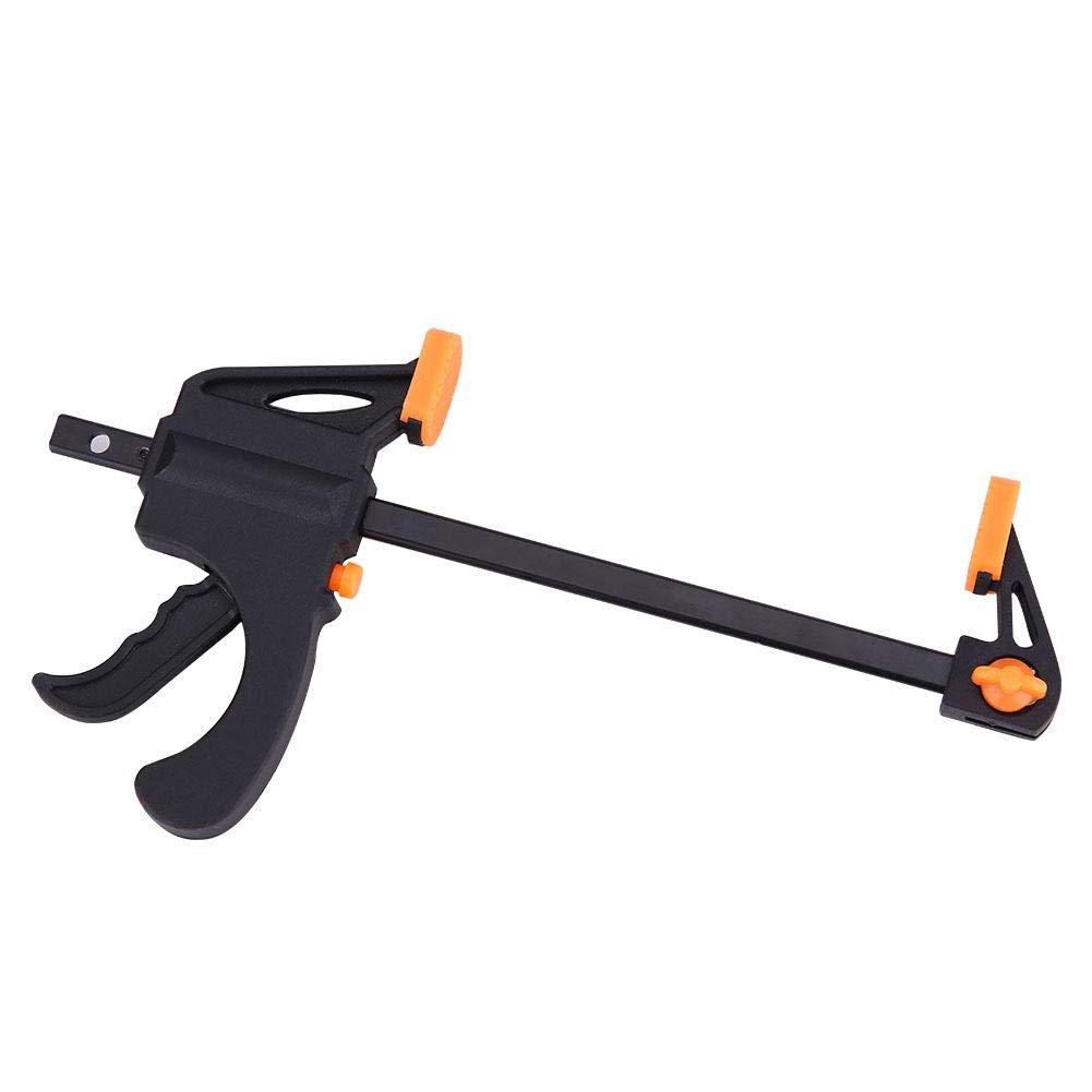 4pcs F-Clamp For Home Improvement, 4''DIY Quick Grip Clip Bar Ratchet Release Squeeze Woodworking Hand Tool with Plastic Grip and Pad Protector