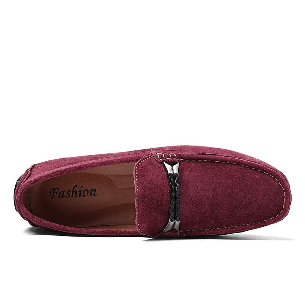 Oudan Zapatos sin sin sin Cordones para Hombre, Casuales, cómodos, Ligeros, Estilo británico, Mocasines para embarcaciones (SAMT cálido Opcional), Burdeos, Reino Unido 8 / UE 42 d61ad3