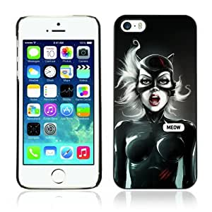 Designer Depo Hard Protection Case for Apple iPhone 5 5S / Cool Cat Woman Meow
