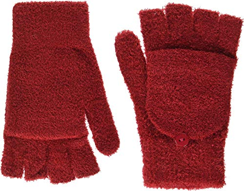 Steve Madden Women's Solid Magic Tailgate Glove, red, ONE Size (Magic Gloves 1)