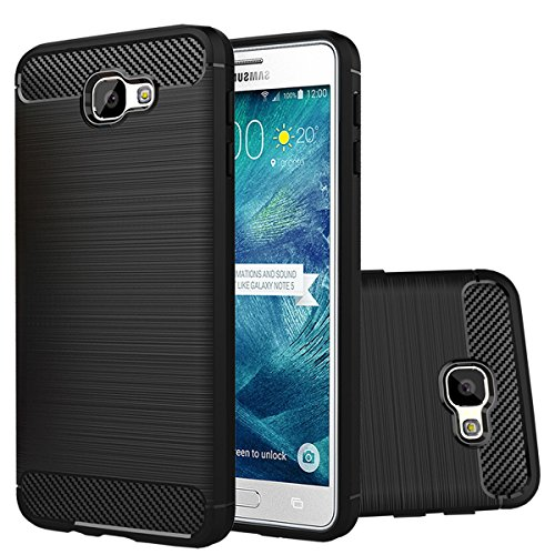 Galaxy J7 Prime 2016 Release (Only Fit SM-G610 Series) Case,Galaxy on7 Case,Ultra Thin Light Weight Case Flexible TPU Bumper Shock Absorbing Slim Fit Back Cover for Samsung J7 Prime (Black)