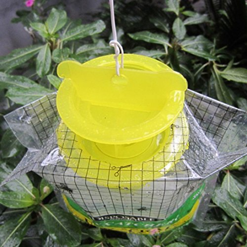 Trampa de Moscas Koly Desechable Trampa de Moscas Catcher Fly Catcher Insect Trap Hanging Style Control de plagas Trampa cazainsectos ecologica Moscas (25 ...