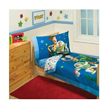 Toy Story Toddler Bed.Disney Toy Story 4 Piece Toddler Bedding Set