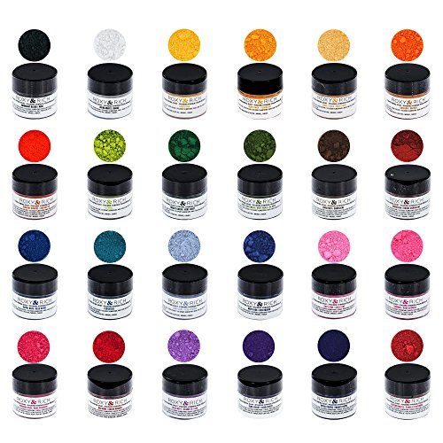 Roxy & Rich Edible Hybrid Petal Dust Master Kit, 24 Colors by GSA by ROXY & RICH COLORANTS