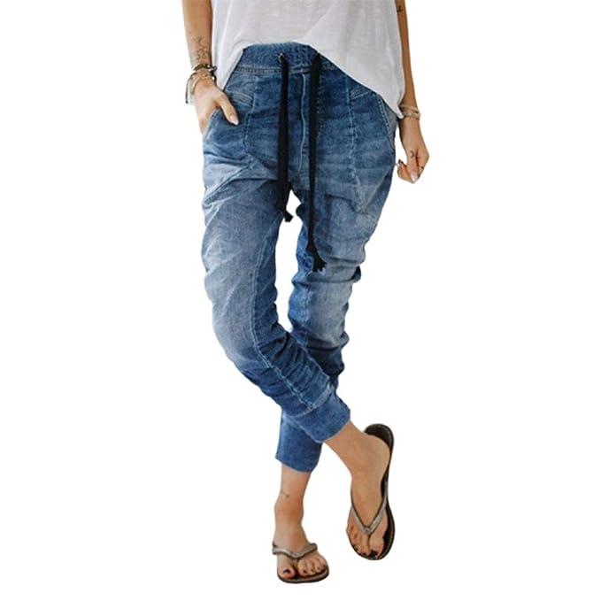 Pantalones Vaqueros De Las Mujeres Rectas Mode De Marca ...